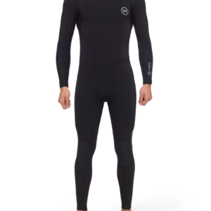 Deeply Traje De Surf Hombre Premium 4/3 Chest Zip Negro
