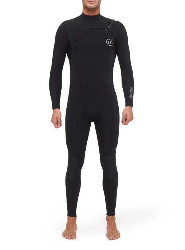 Deeply Traje De Surf Hombre Premium 4/3 Chest Zip Negro